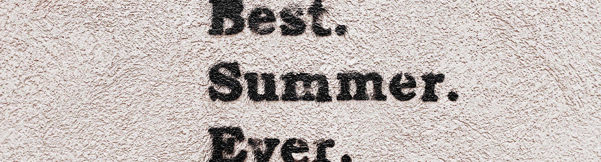 Summer Program banner